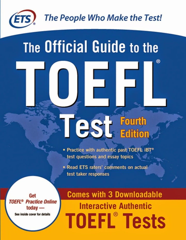 Kết quả hình ảnh cho The Official Guide to the TOEFL Test 4th